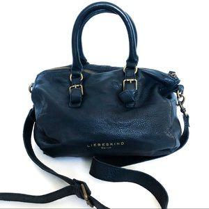 {LIEBESKIND BERLIN} Pebbled Leather Satchel Bag